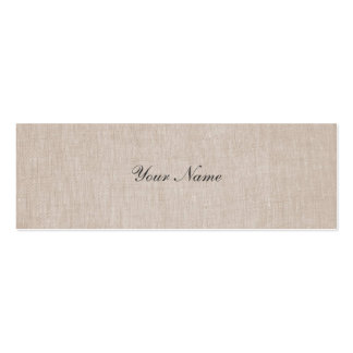 Minimalistic Eleganz-LeinenminiVisitenkarte