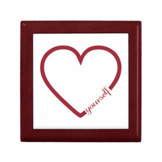 Minimalistic Entwurf des Herzens der Liebe sich Schmuckschachtel