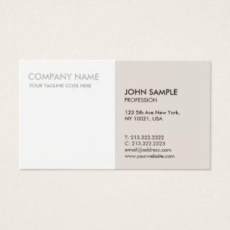 Minimalistic moderne berufliche elegante Farben Visitenkarte