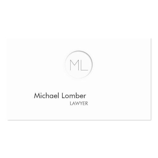 Minimalistic moderne Monogramm-Visitenkarte