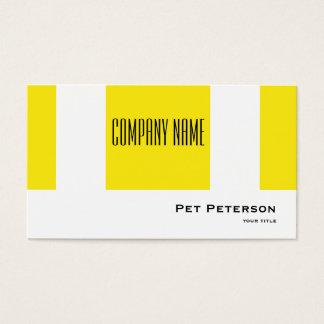 Minimalistic modernes quadratisches Gelb Visitenkarte