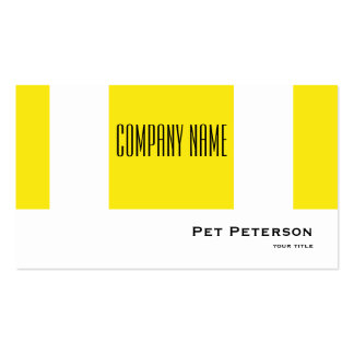 Minimalistic modernes quadratisches Gelb Visitenkarten