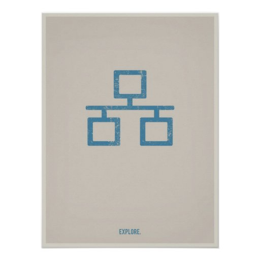 Minimalistic Plakat des Ethernets