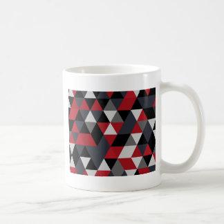 Minimalistic Polygonmuster (Prisma) Kaffeetasse