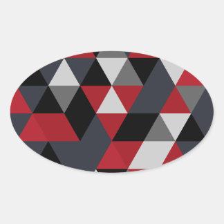 Minimalistic Polygonmuster (Prisma) Ovaler Aufkleber