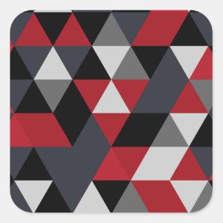 Minimalistic Polygonmuster (Prisma) Quadratischer Aufkleber
