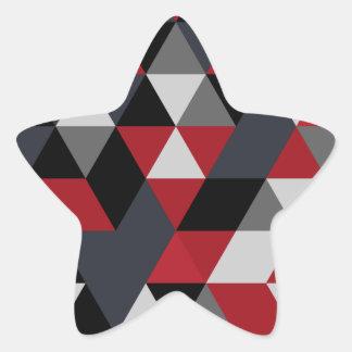 Minimalistic Polygonmuster (Prisma) Stern-Aufkleber