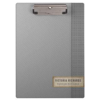 Minimalistic Zwei-Ton Grau Klemmbrett
