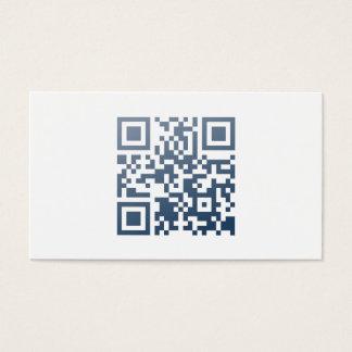 Minimalistische Visitenkarte (QR-Code und Name)