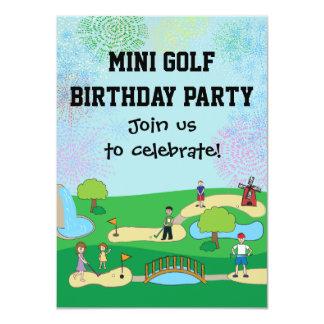 Miniminiaturgolf-Geburtstags-Party Einladungen