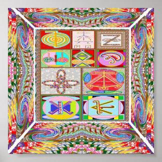 MINIplakat: KOSMISCHE Intelligenz-Symbole Poster