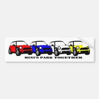 MINIs Park-zusammen - Autoaufkleber