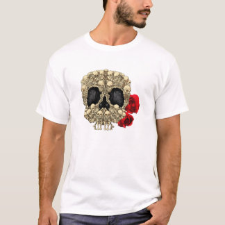 Miniskelett-Zuckerschädel T-Shirt