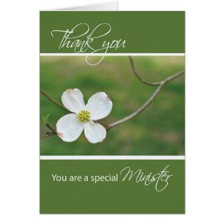 Minister danken Ihnen Hartriegel-Blüte Karte