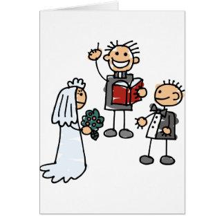 Minister der ehrwürdige Priester führt Grußkarte