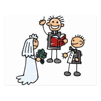 Minister der ehrwürdige Priester führt Postkarte