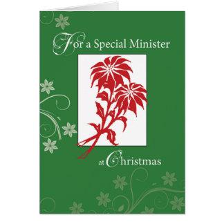 Minister, Weihnachtspoinsettias Karte