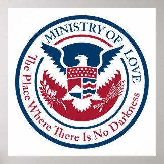 Ministerium der Liebe, offizielles Siegel Poster