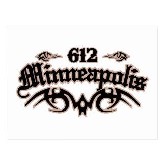 Minneapolis 612 postkarte