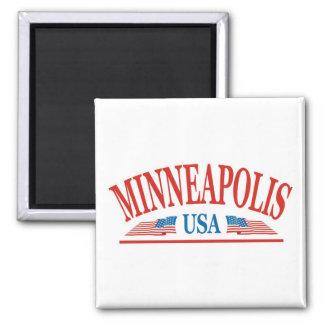 Minneapolis Minnesota USA Quadratischer Magnet