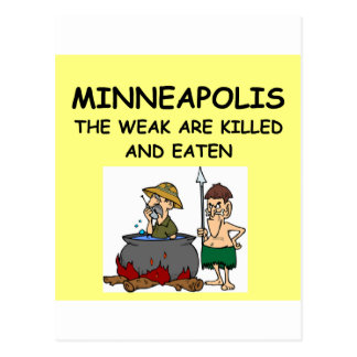 Minneapolis Postkarte