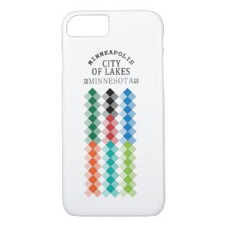 Minneapolis-Stadt netten Entwurfs Ansicht der Seen iPhone 8/7 Hülle