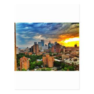 Minneapolis-Sturm Postkarte