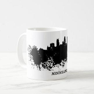 MinneapolisSkyline - platsche Farbe Kaffeetasse