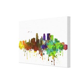MinneapolisSkylineWatercolordruck auf Leinwand