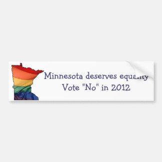 Minnesota-Abstimmung nein, zum von homosexueller Autoaufkleber