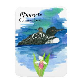 Minnesota allgemeines Loon-Vogel-Aquarell Magnet