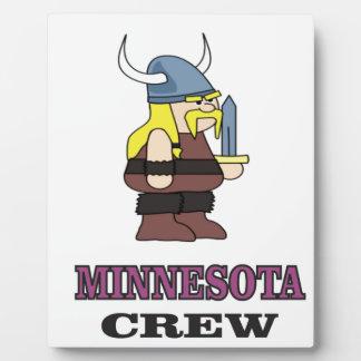 Minnesota-Crew Fotoplatte