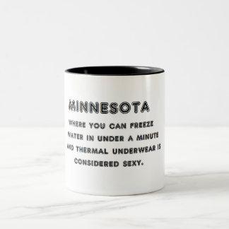 Minnesota-Frost Zweifarbige Tasse