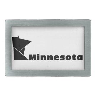 Minnesota-Karte Rechteckige Gürtelschnalle