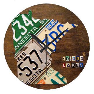 Minnesota-Kfz-Kennzeichen-Karten-Uhr Große Wanduhr