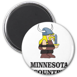 Minnesota-Land Runder Magnet 5,1 Cm