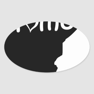 Minnesota Ovaler Aufkleber