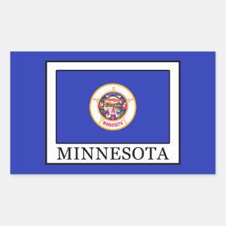 Minnesota Rechteckiger Aufkleber