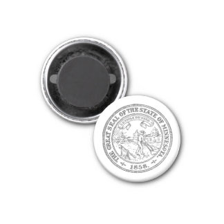 Minnesota-Siegel Runder Magnet 2,5 Cm