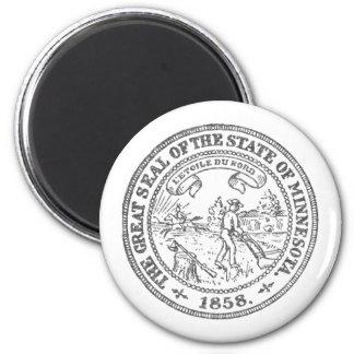 Minnesota-Siegel Runder Magnet 5,1 Cm