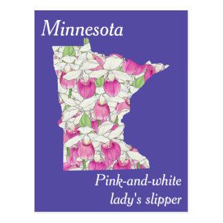 Minnesota-Staats-Blumen-Collagen-Karte Postkarte