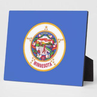 Minnesota-Staats-Flaggen-Plakette Fotoplatte