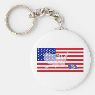 Minnesota, USA Standard Runder Schlüsselanhänger