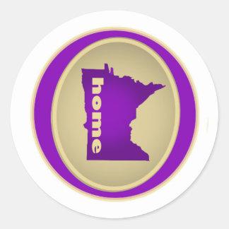 Minnesota:  Zuhause Runder Aufkleber