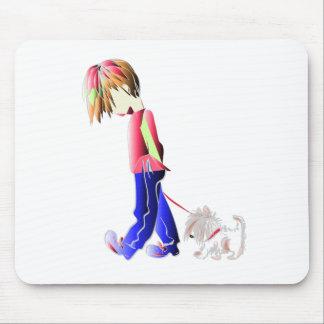 Minnie-ich! Junge gehende Westie Hundekunst Mauspad