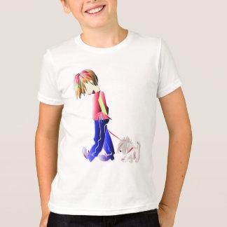 Minnie-ich! Junge gehende Westie Hundekunst T-Shirt