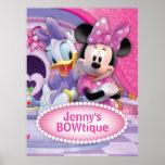 Minnie Mouse und Gänseblümchen kundengerecht Plakat