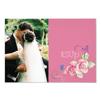 minniemay uAwgkarten-Rosa-Rose + Schmetterlinge Personalisierte Ankündigungen