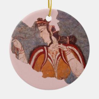 Minoan Wandbild Keramik Ornament