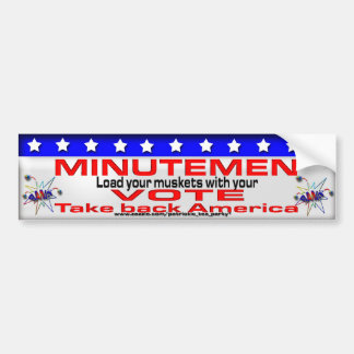 Minutemen laden Ihre Musketen Autoaufkleber
